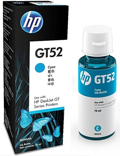 Разное-HP-GT52 CYAN ORIGINAL INK BOTTLE (M0H54AE)